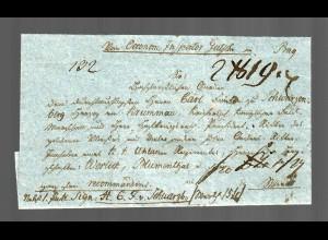 Böhmen Einschreiben ca. 1830