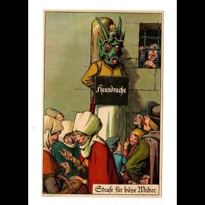 Juxkarte: Strafe für böse Weiber, Hausdrache