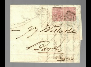 letter from Newport 1876 to Barth/Prussia-Preussen/Germany