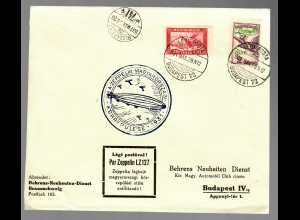 Zeppelin LZ127 Budapest 1931, # 478+479, 2 covers