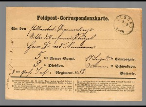 Feldpost 1870/71 Glogau ins Feld
