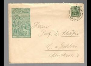 Privat Ganzsache #6A: 1909: Sonderstempel Universitäts Jubiläum Leipzig