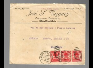 Cover from Habana to Guatemala 1902 via New York