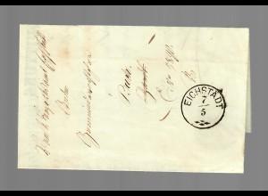 Eichstädt 1868, Teil-Schreiben Bayr. Invalidenunterstützungsverein