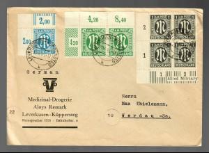 Leverkusen Küppersteg Medizinal-Drogerie nach Werdau, Eckrand