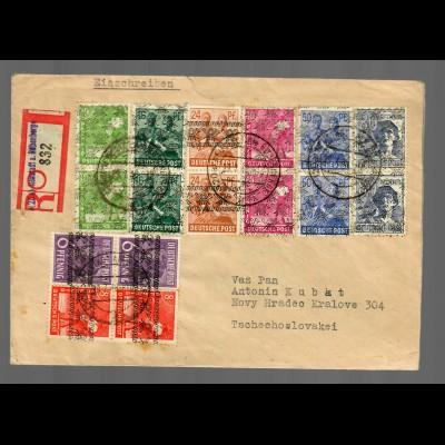 Einschreiben Neustadt/Rübenberge 29.7.48 in die Tschechoslovakei