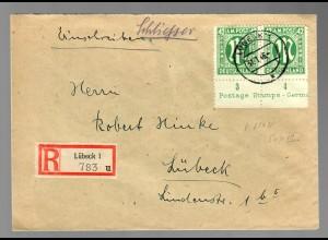 Einschreiben Lübeck vom Unterrand, Typ III