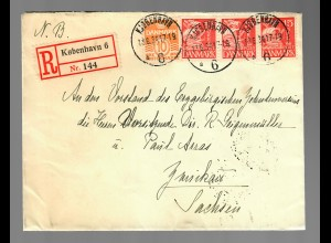 Registered Kobenhavn 1934 to Zwickau/Germany