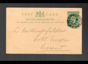 post card Singapore 1909
