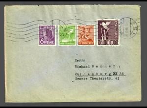 Brief 1948, Nürnberg nach Hamburg, 10fach Porto