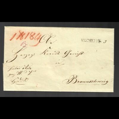 Vorphila Vechelde nach Braunschweig mit Text von 1840