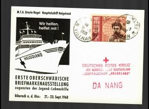 Hospitalschiff Helgoland 1968 an Rotes Kreuz Da Nang