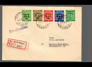 SBZ: Einschreiben Berlin-Karow 1948 nach Neukölln
