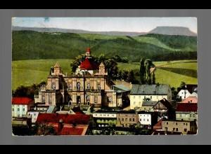 Ansichtskarte Gnadenkirche Albendorf/Breslau, Sonderstempel 1932
