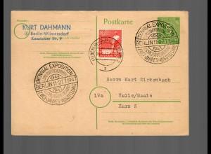 Ganzsache 1947 Berlin: US-Militärregierung-2 Jahres Ausstellung, Charlottenburg