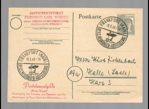 Ganzsache 1948 Frankfurt/M, Sonderstempel Hessische Neubürger Ausstellung