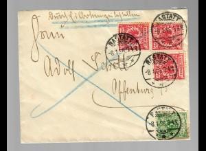 Eilboten 1896 von Rastatt nach Offenburg
