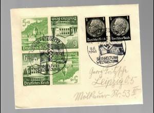 Brief Berlin Steglitz, Soinderstempel Seegeltung, Weltgeltung 1941