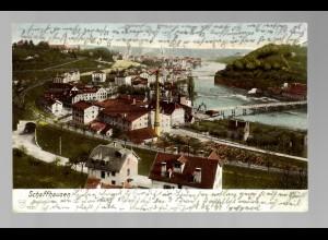 Ansichtskarte Schaffhausen 1907 nach Wachwitz / Dresden