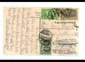 post card 1911 Monumento Garibaldi, Buenos Aires, Görlitz forwarded
