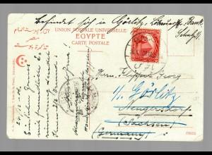 post card Alexandrie Pont, 1912 Bacos to Görlitz