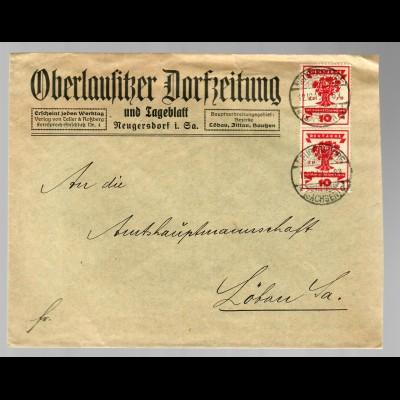 Oberlausitzer Dorfzeitung, Neugersdorf 1919 nach Löben/Sa