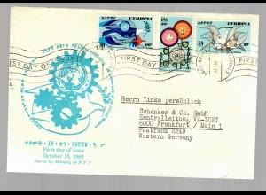 FDC Äthiopien, Ethiopia 1969 to Frankfurt/M Germany