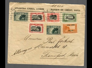 Sofia, bank-letter 1914 to Frankfurt/Main, Germany
