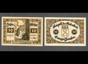 Notgeld der Stadt Rosenstadt/Sangerhausen, 2 Scheine je 10 Pfennig
