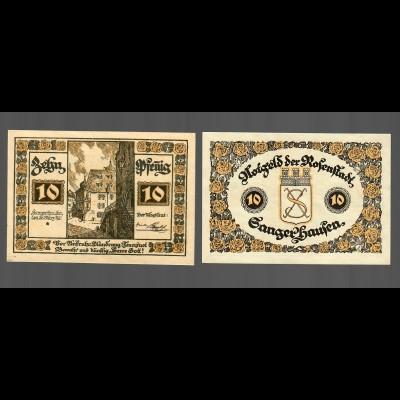 Notausgabe der Stadt Rosenstadt/Sangerhausen, 2 Scheine je 10 Pfennig