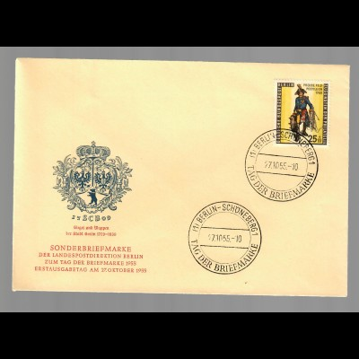 MiNr. 131: FDC Berlin Charlottenburg, Tag der Briefmarke 1955