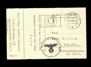 Feldpost Danzig-Langfuhr 15.5.1941, Flakzug nach Wien