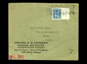 Den Haag 1941 to Genova, Italy, OKW censor