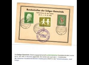 Bundestreffen Seliger Gemeinde Rothenburg o.d.Tauber, 1958 nach Bamberg