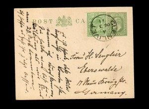 Scotland Glenlivet / Ballindalloch 1911, post card to Eberswalde/Germany