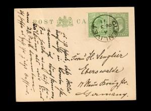 Scotland Glenlivet / Ballindalloch 1911, post card to Eberswalde/Germany