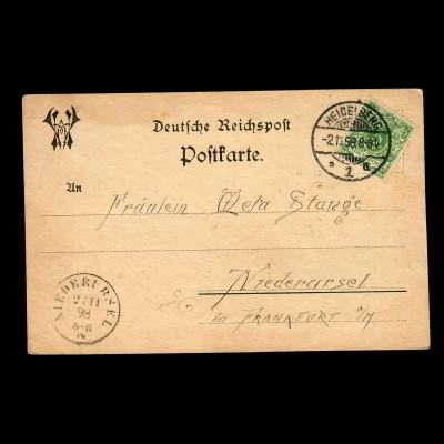 Ansichtskarte Heidelberg 1898 nach Niederursel