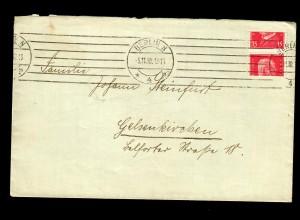 Brief von Berlin 1930 nach Gelsenkirchen, extremer Markenverschnitt