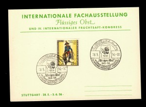Internationale Ausstellung flüssiges Obst, Fruchtsaft, Stuttgart 1956