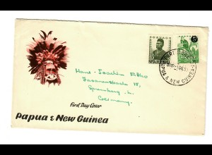 FDC Papua Port to Germany