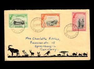 letter 1958 Stegi, Swaziland to Spremberg