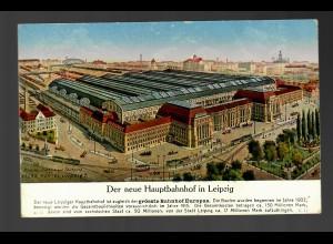 Feldpost-Karte Hauptbahnhof Leipzig, Bahnhofskommandantur Engelsdorf nach Zittau