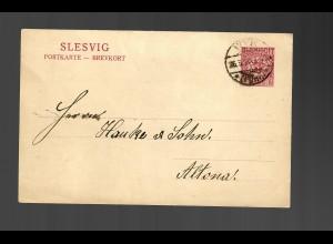 Post Karte Slesvig Klintum 1920, Wyk nach Altona