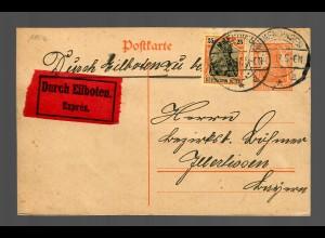 Ganzsache als Eilbote Jmmendingen nach Illertissen 1917