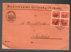Bezirksamt Griesbach nach Landshut 1922
