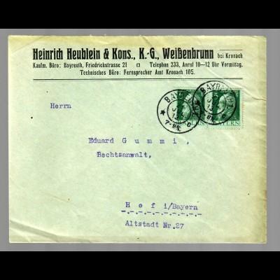 Bayreuth / Weißenbrunn/Kronach nach Hof 1913