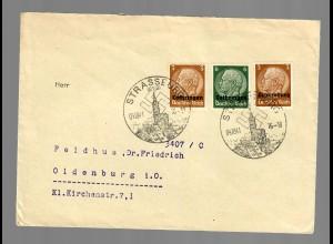 Brief aus Strassburg 1941 nach Oldenburg