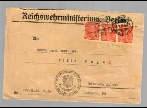 Reichswehrministerium Berlin, Heeresleitung 1922 nach Freiburg