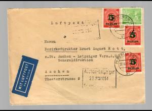 Luftpost Berlin 1951 nach Aachen