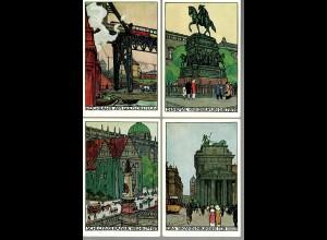 4x Ansichtskarte Lehrerversammlung Berlin 1912, Hochbahn, Schloss Kaiser Wilhelm